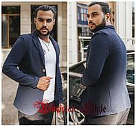Стильный мужской  однотонный  пиджак.3 цвета!