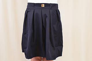 Нарядная дешевая юбка в складки для школы р.122,128,134,140