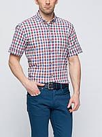 Мужская рубашка LC Waikiki / ЛС Вайкики с коротким рукавом в бело-красно-синюю полоску