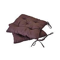 Подушка на стул Прованс 40х40см темно-коричневая