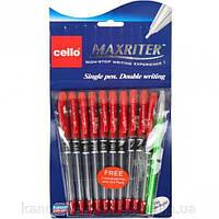 Ручка масляная Maxriter Cello красная