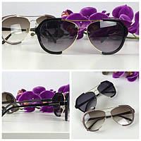 Необычные очки-оверсайз с асимметричной оправой (черная линза)