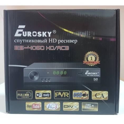 Спутниковый тюнер ресивер приставка Mpeg4 Eurosky ES-4060 HD/AC3 Тюнер ПРОШИТ