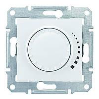 Диммер, светорегулятор поворотно - нажимной индуктивный 25-325 Вт проходной Schneider Sedna белый