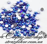 Стразы ss6 без клея Sapphire AB (синие хамелеоны) (100шт.) холодной фиксации