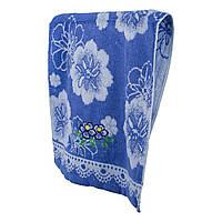 Синие махровое полотенце для лица Две мальвы