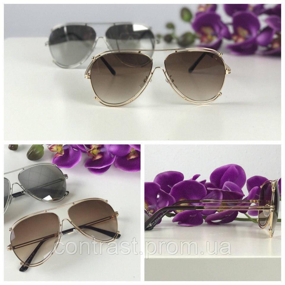 Трендовые очки-оверсайз с деструктурированной оправой pantos (коричневая линза)