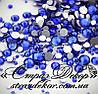 Стразы ss6 без клея Sapphire (синие) (100шт.) холодной фиксации