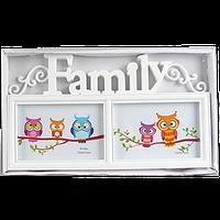 Фоторамка для семьи на 2 фото