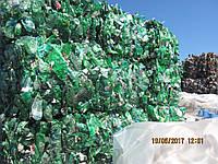 Отходы ПЭТ бутылка зеленая