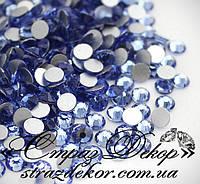 Стразы ss6 без клея Light Sapphire (голубые) (100шт.) холодной фиксации