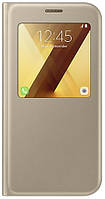 Чехол Samsung A720 - S View Standing Cover Gold (EF-CA720PFEGRU)