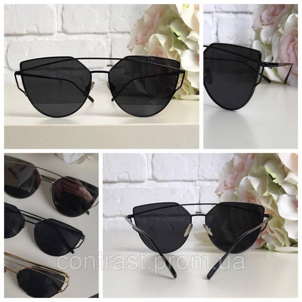 Шикарные очки-оверсайз с деструктурированной формой pantos