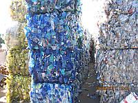 Отходы ПЭТ бутылка голубая
