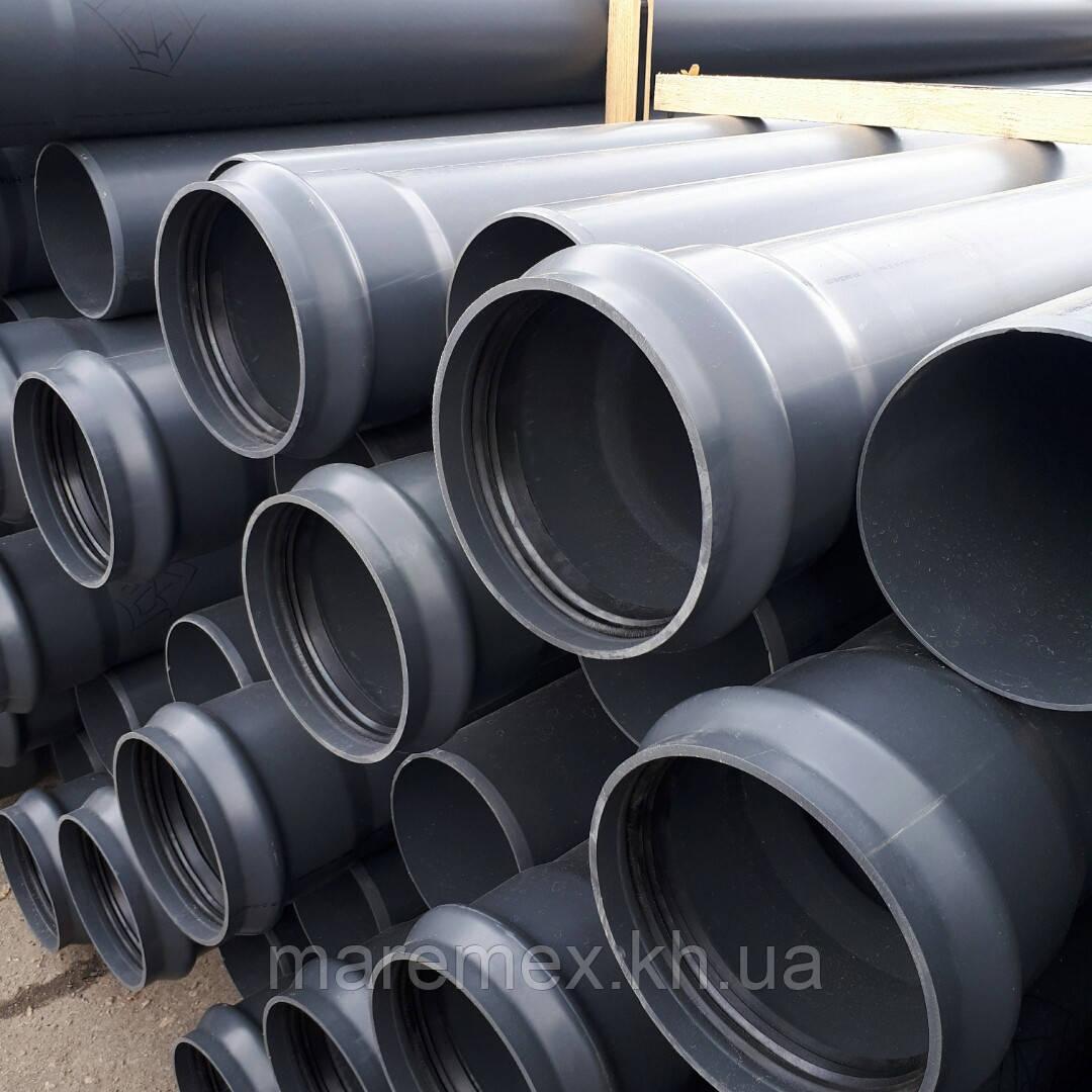 Труба Пвх зовнішня 315/11,9 мм/6м/10атм водонапірна - Мпласт