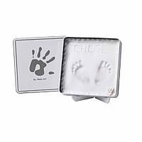 Коробочка с отпечатками Baby Art Magic Box Square White Grey