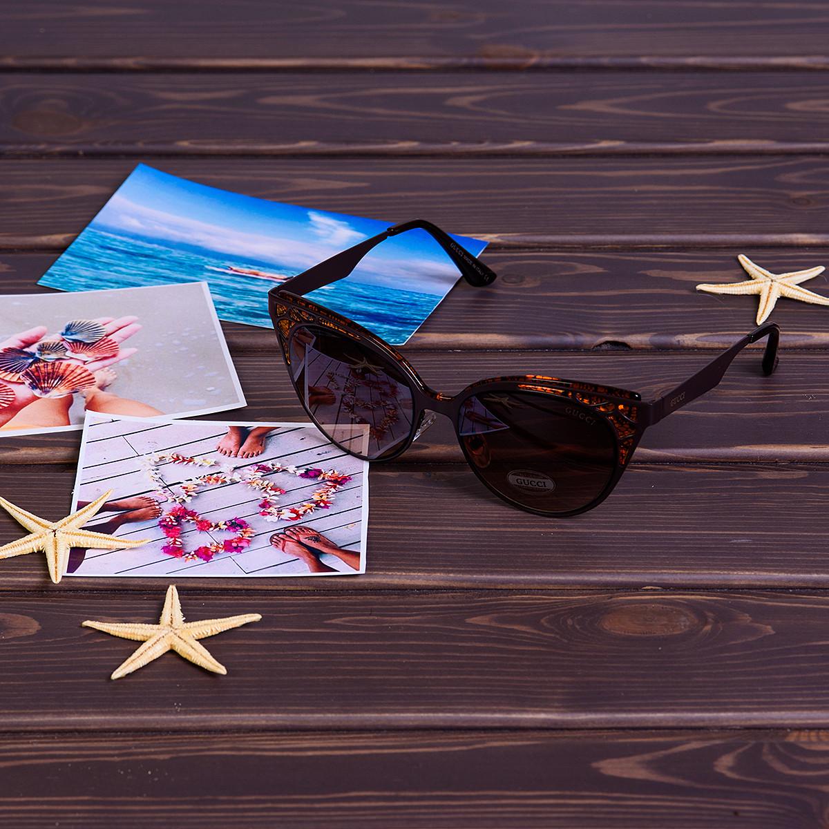 Cолнцезащитные очки Gucci Гуччи 980-3 брендовые очки в Украине - Дешевле-Нет ! 80a71438329