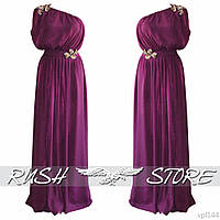 Шифоновое платье в пол на одно плечо