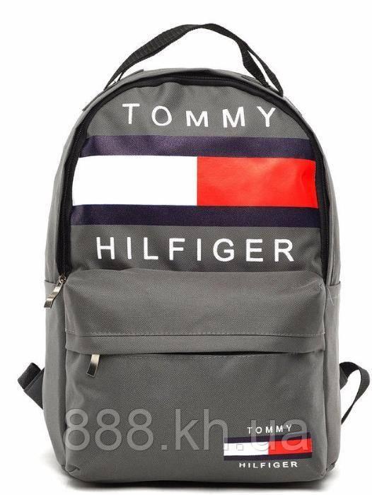 Городской рюкзак TOMMY HILFIGER серый, портфель для мальчика, портфель для девочки,портфель школьный не оригинал