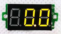 Вольтметр цифровой DV-36Yellow постоянного тока 0-200V (трех разрядный, желтый, бескорпусной)