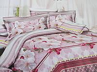 Двухспальное постельное белье из ранфорса.