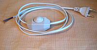 Кабель с диммером (регулятор интенсивности света), длинна 1,2 метра, белый