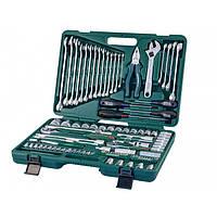 Универсальный набор торцевых головок,комбинированных ключей,отверток 101 пр
