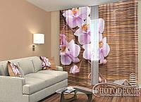 """ФотоШторы """"Орхідеї і дерево"""" 2,5 м*2,6 м (2 полотна по 1,30 м), тасьма"""