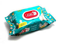 """Влажные салфетки для детей с клапаном """"Lili"""" 120шт - Алое вера"""