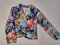 Пиджак для девочки трикотажный без подкладки р.116,122,140 Украина