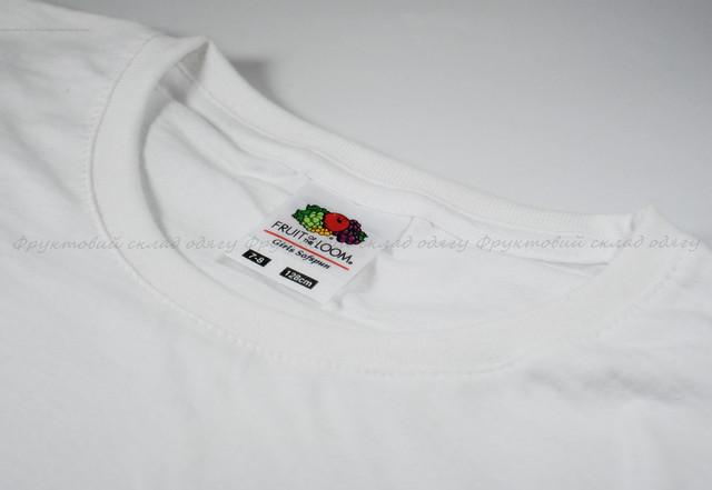 Белая детская мягкая футболка для девочек