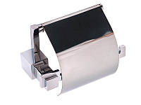 Держатель для туалетной бумаги с крышкой Kugu С5 511, хром