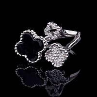 Серебряное кольцо с ониксом Van Cleef & Arpels