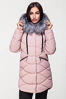 Куртка женская теплая со съмной опушкой