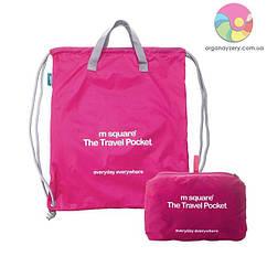 Портативна водонепроникна сумка-рюкзак (рожевий)