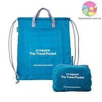 Портативная водонепроницаемая сумка-рюкзак (бирюзовый)