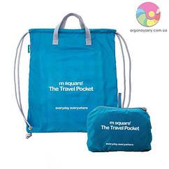 Портативна водонепроникна сумка-рюкзак (бірюзовий)