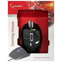 Игровая мышка Gembird MUSG-001-B, cиняя, USB