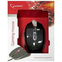 Игровая мышка Gembird MUSG-001-R, красная, USB