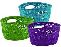 Пластиковая корзина мини фиолетовая, зеленая и бирюзовая VICTORIA Curver 226556
