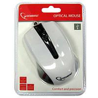 Компьютерная мышка Gembird MUS-101-W, белая USB