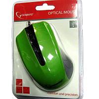 Компьютерная мышка Gembird MUS-101-G, зеленая USB