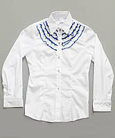 Белая детская блузка на 7 - 9 лет
