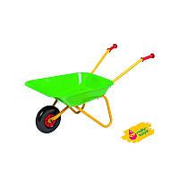 Тачка садовая детская металлическая Rolly Toys зеленая