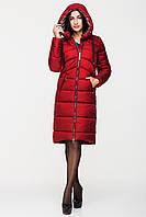 Длинная модная зимняя женская куртка