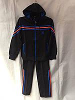 Спортивный костюм подростковый для мальчика 10-14 лет,черный