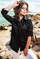 Молодежная модная рубашка из шелка с длинным рукавом