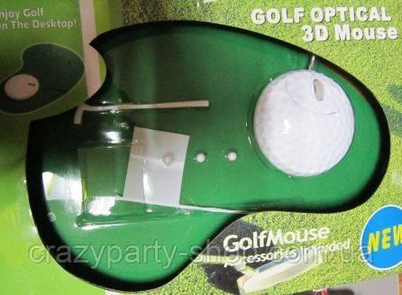 Компьютерная мышка с ковриком игра в гольф