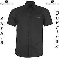 Рубашка мужская Pierre Cardin черная на короткий рукав |Сорочка чоловіча чорна на короткий рукав Pierre Cardin