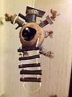 Игрушка для попугая. Кокос и дерево